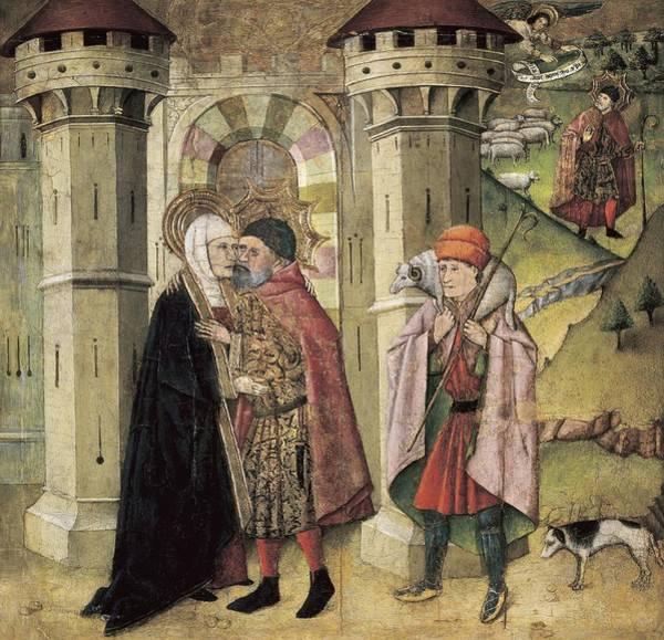 Ovine Photograph - Huguet, Jaume 1415-1492. Saint Joachim by Everett