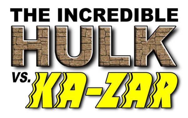 Serif Digital Art - Hulk Vs. Ka-zar by Clif Jackson