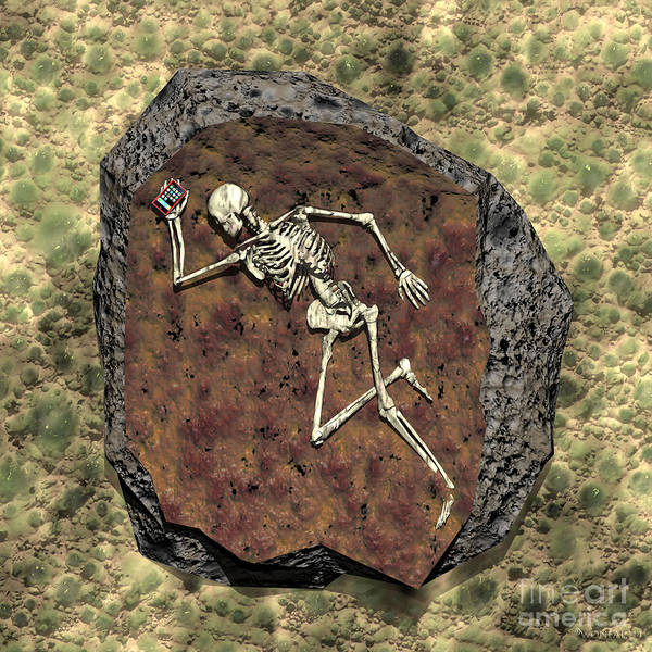 Digital Art - Human E-fossil by Walter Neal