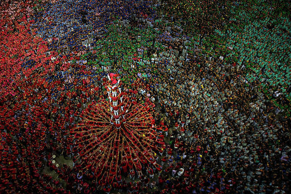 Photograph - Human Towers Are Built In The Tarragona by David Ramos