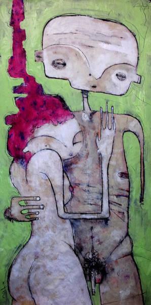 Outsider Art Painting - Humanitas No. 10  by Mark M  Mellon