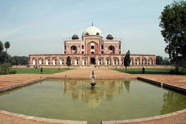 The Philippines Wall Art - Photograph - Humayuns Tomb In Charbagh Garden by Photography By Jeremy Villasis. Philippines.