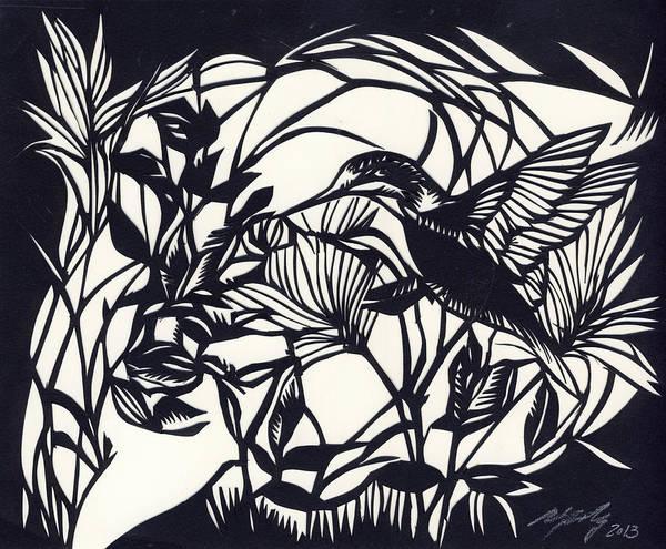 Mixed Media - Humming Bird Visit by Alfred Ng
