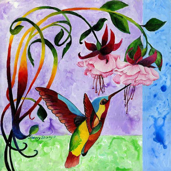 Painting - Hummingbird 1 by Sherry Shipley