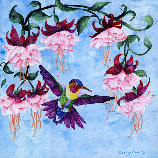 Painting - Hummingbird 2 by Sherry Shipley
