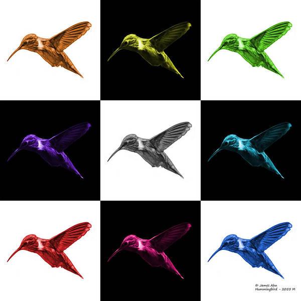 Digital Art - Hummingbird - 2054 F M - V2 by James Ahn