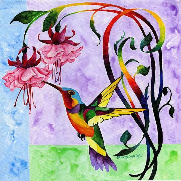 Painting - Hummingbird 3 by Sherry Shipley
