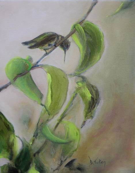 Painting - Hummingbird At Rest by Donna Tuten