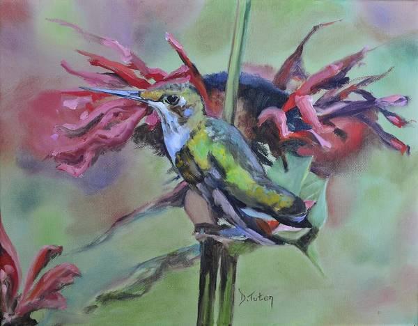 Painting - Hummingbird Hangout by Donna Tuten