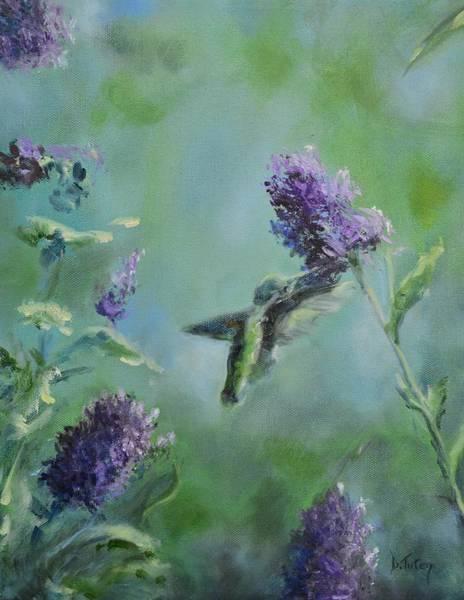 Painting - Hummingbird In Flight by Donna Tuten