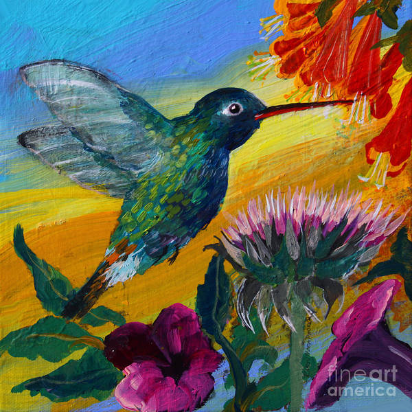 Painting - Hummingbird by Robin Maria Pedrero