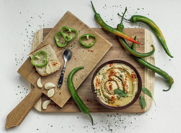 Green Vegetable Photograph - Hummus by Dimitar Lazarov -