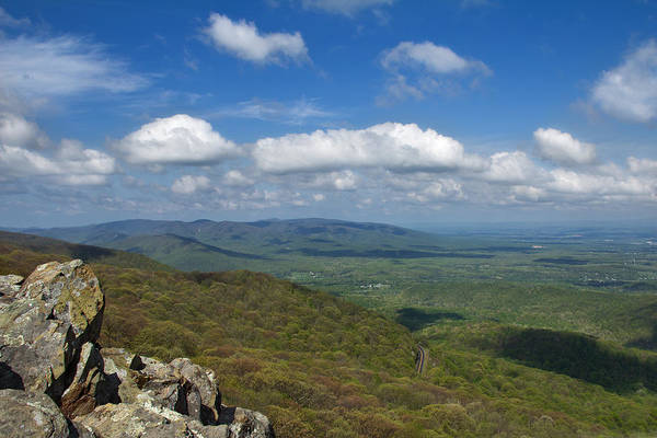 Art Print featuring the photograph Humpback Rocks View South by Jemmy Archer