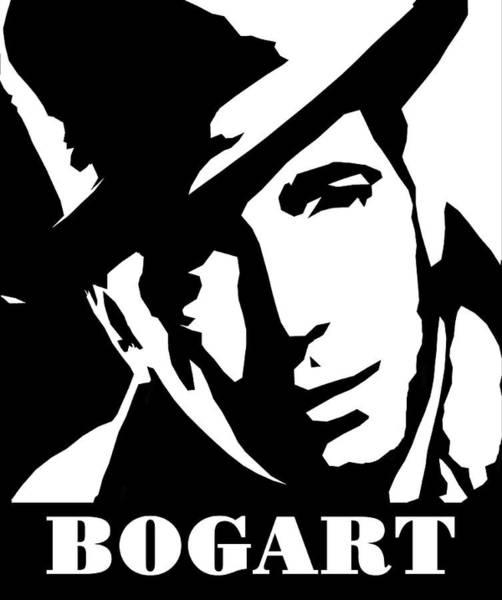 Famous People Digital Art - Humphrey Bogart Black And White Pop Art by David G Paul