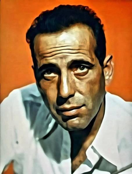 Painting - Humphrey Bogart Portrait by Florian Rodarte
