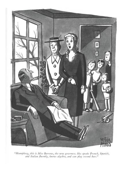 Drawing - Humphrey, This Is Miss Barrows, The New by Peter Arno