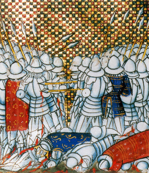 Wall Art - Photograph - Hundred Years War, Battle Of Cr�cy, 1346 by Science Source