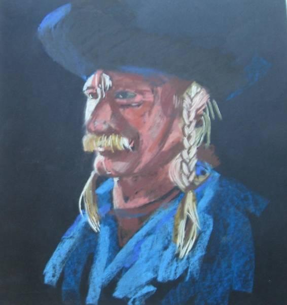 Plaits Painting - Hungarian Horseman Portrait by Eva Csontos