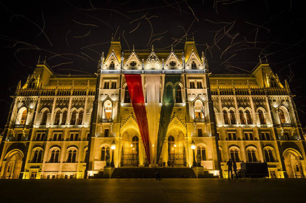 Wall Art - Photograph - Hungarian Parliament At Night by Pablo Lopez