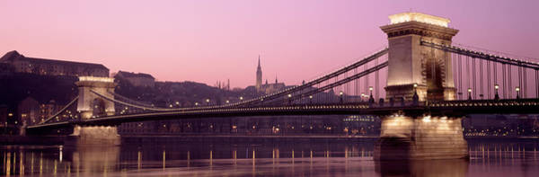 Chain Bridge Photograph - Hungary, Budapest, Szechenyi Lanchid by Panoramic Images