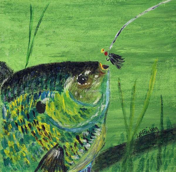 Painting - Hungry Bluegill by Linda Feinberg