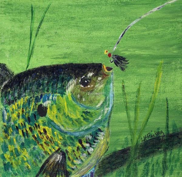 Hungry Bluegill Art Print