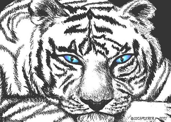 Drawing - Hungry Eyes by Sophia Schmierer