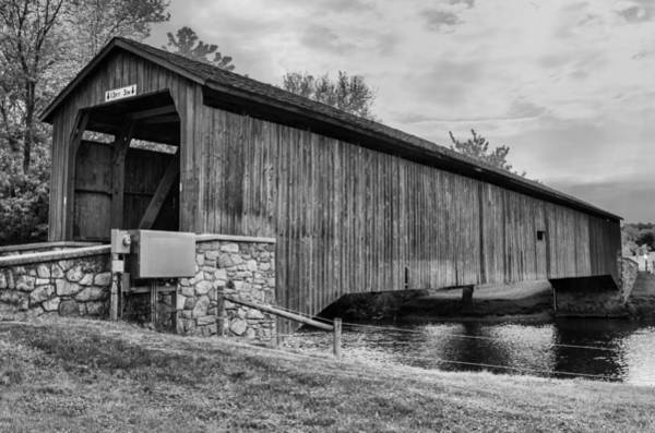 Photograph - Hunsecker's Mill Bridge by Guy Whiteley