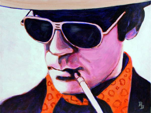 Painting - Hunter S Thompson by Bob Baker