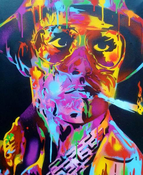 Fear Painting - Hunter S Thompson by Leon Keay