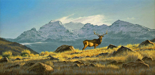 Wall Art - Painting - Hunter's Dream - Elk by Paul Krapf