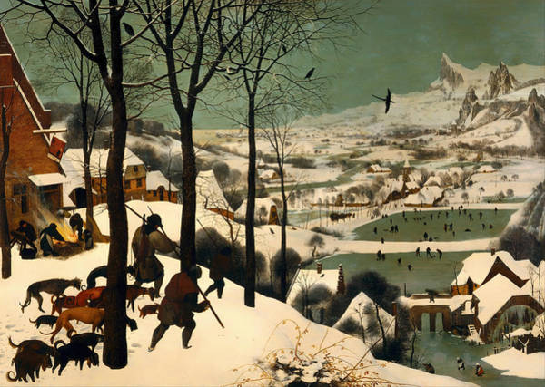 Figure Skater Painting - Hunters In The Snow by Mountain Dreams