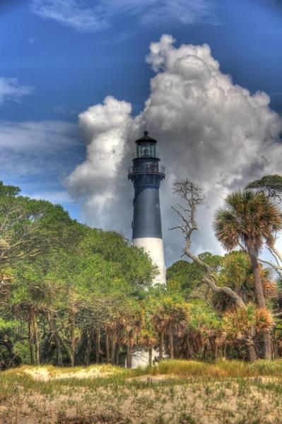 Hunting Island Lighthouse Wall Art - Photograph - Hunting Island Light by John Handfield