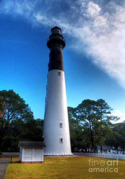 Photograph - Hunting Island Lighthouse by Mel Steinhauer