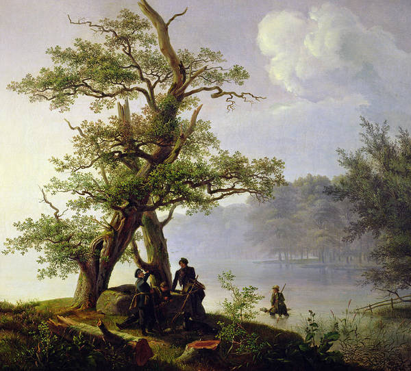 Shooting Painting - Hunting Waterfowl by Thomas Fearnley