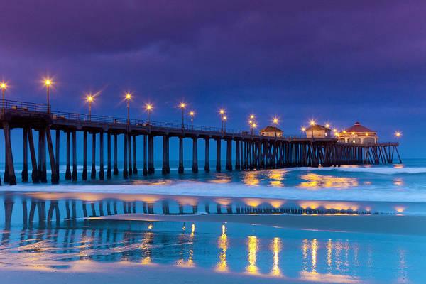 Huntington Beach Photograph - Huntington Dawn by Sean Davey