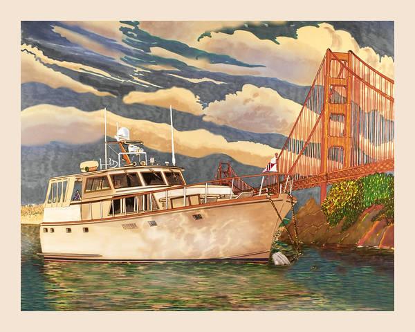 Sausalito Painting - Sausalitos Hurricane Gulch Anchorage by Jack Pumphrey