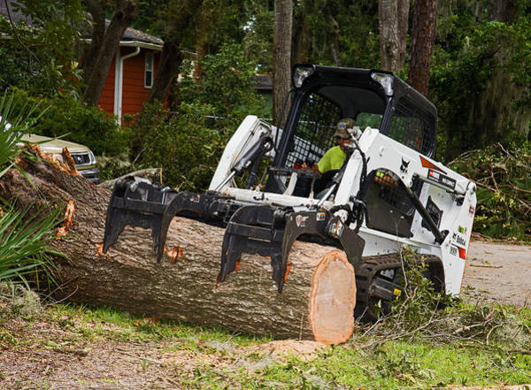 Hurricane Irma Damage, Bobcat Tractor Art Print by Millard H. Sharp