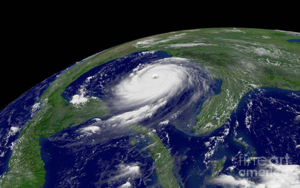 Catastrophe Photograph - Hurricane Katrina by Jon Neidert