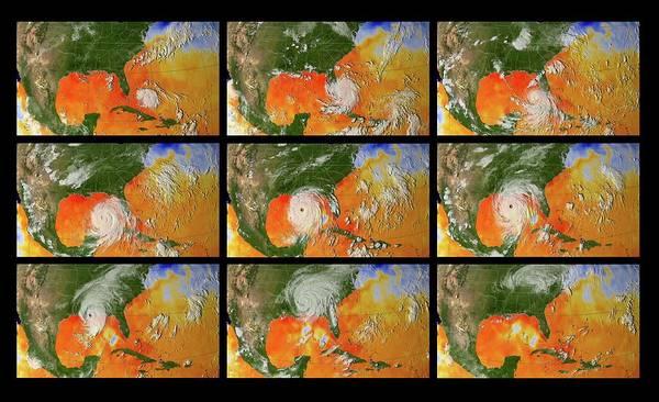 Katrina Wall Art - Photograph - Hurricane Katrina Sea Surface Temperature by Nasa/science Photo Library