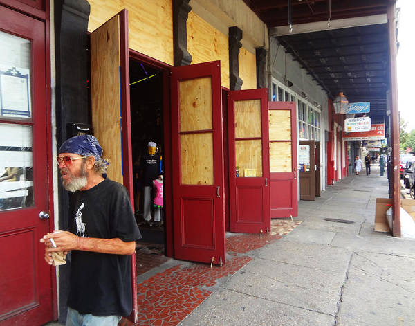 Photograph - Hurricane Preparation New Orleans Style by Louis Maistros