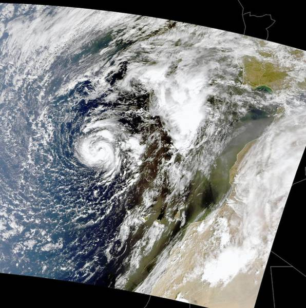 Tropical Cyclone Wall Art - Photograph - Hurricane Vince by Nasa/science Photo Library