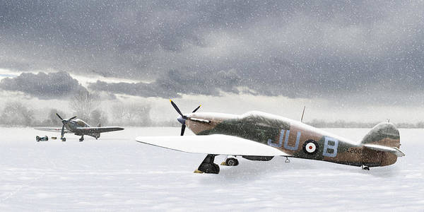 Photograph - Hurricanes In The Snow by Gary Eason