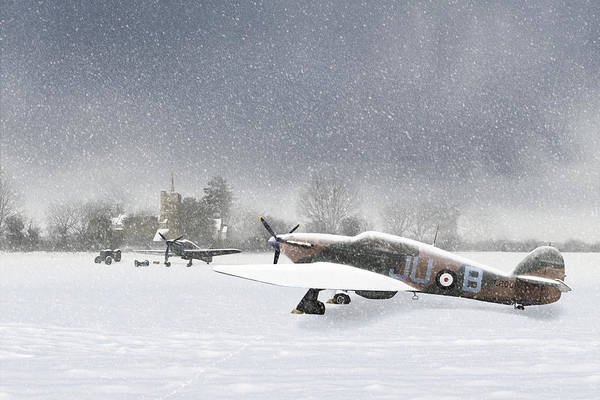 Photograph - Hurricanes In The Snow With Church by Gary Eason