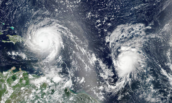 Suomi Photograph - Hurricanes Irma And Jose by Nasa/science Photo Library