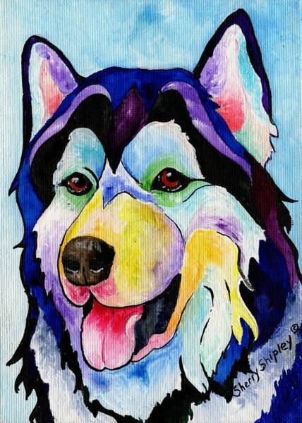 Painting - Husky by Sherry Shipley