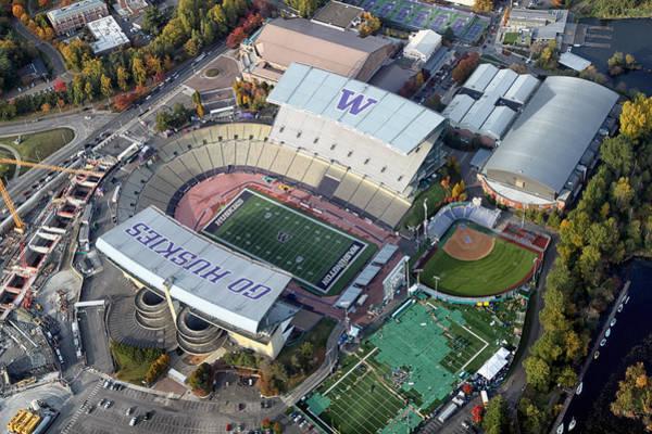 University Of Washington Wall Art - Photograph - Husky Stadium by Georgia Fowler