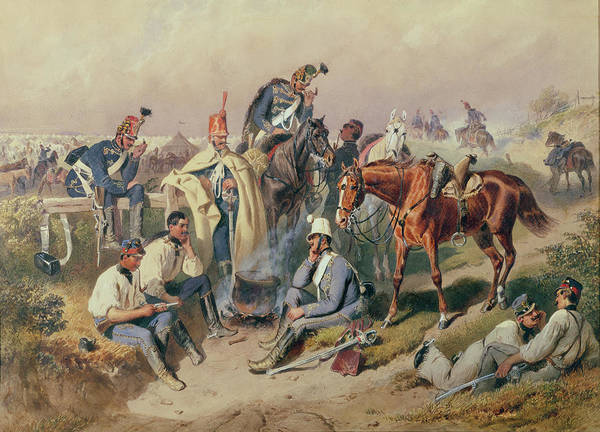 Cavalry Photograph - Hussar Encampment Wc by R Gobel