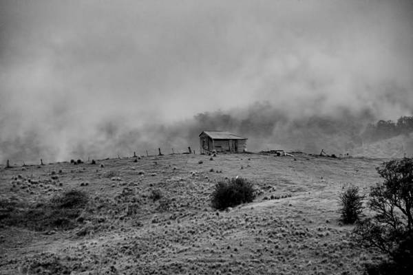 Photograph - Hut Enveloped By Fog by David Rich