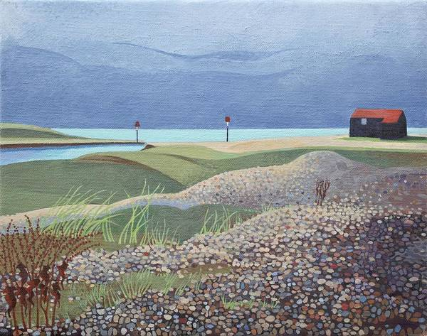 Pebble Painting - Hut, Rye Harbour  by Anna Teasdale